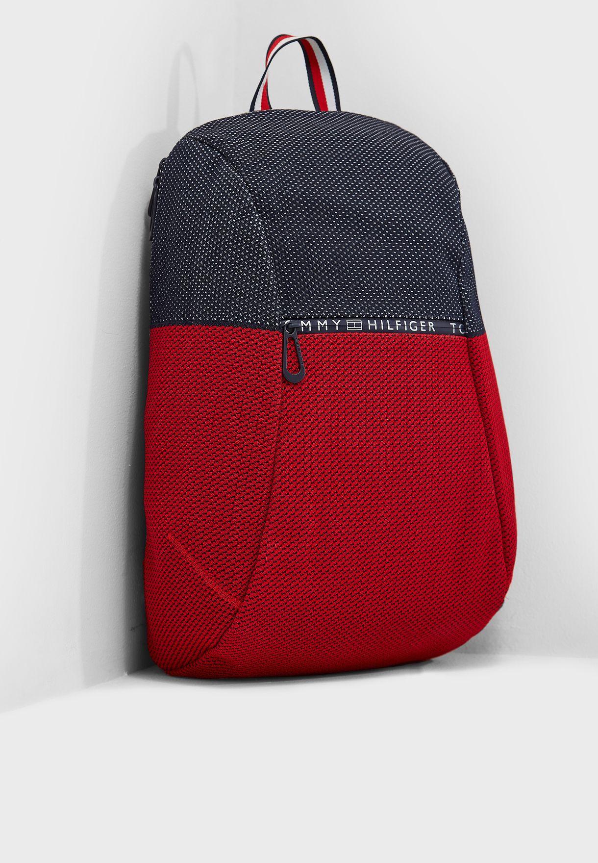 e2b3d974 Shop Tommy Hilfiger multicolor Tech Knit Backpack AM0AM03610 for Men ...