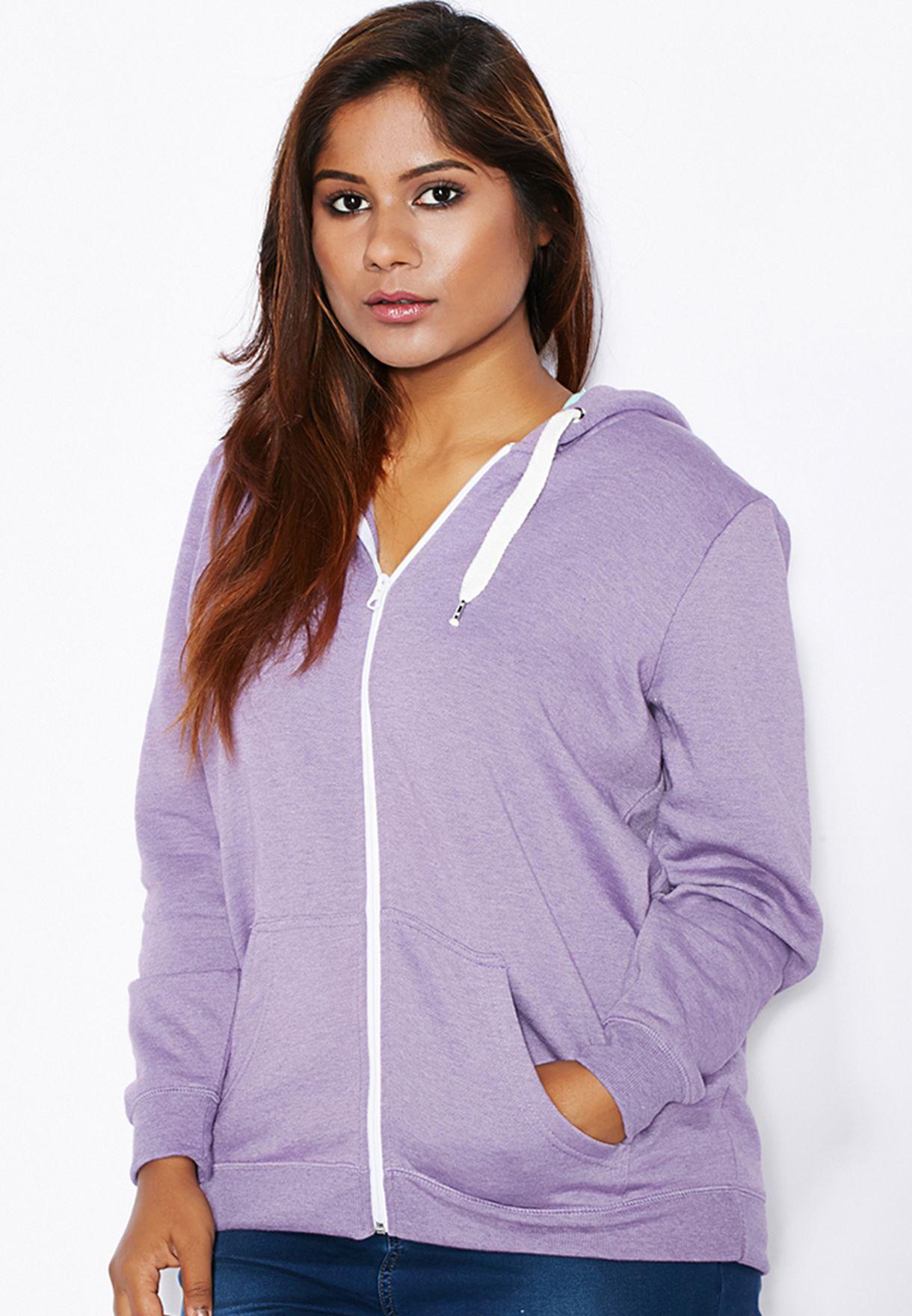 0ebaa4ac0b8 Shop Evans purple Full Zip Hoodie for Women in UAE - EV855AT95EZS