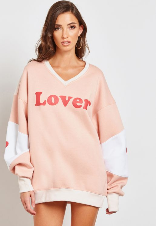 Slogan Oversized Sweat Dress