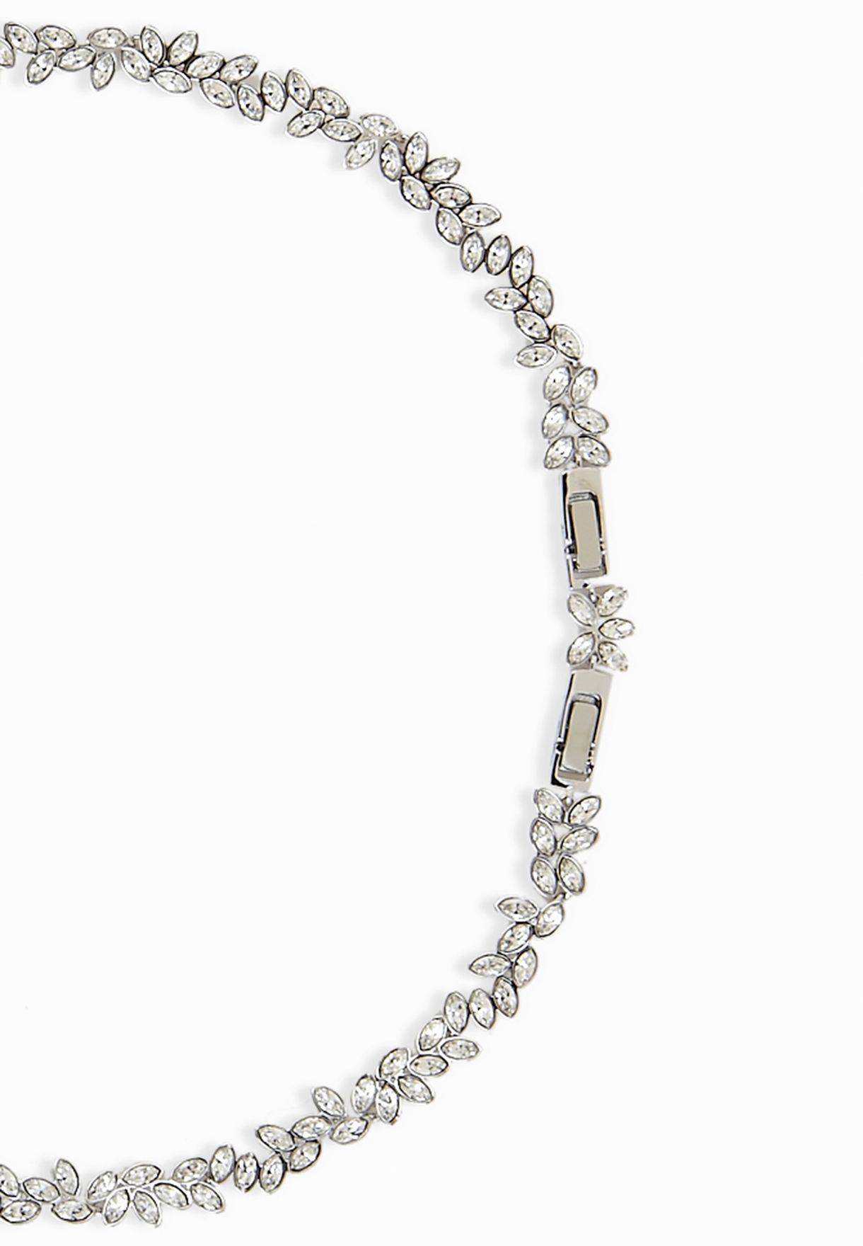 fc233fcdc10 Shop Swarovski silver Diapason Necklace 5184273 for Women in ...