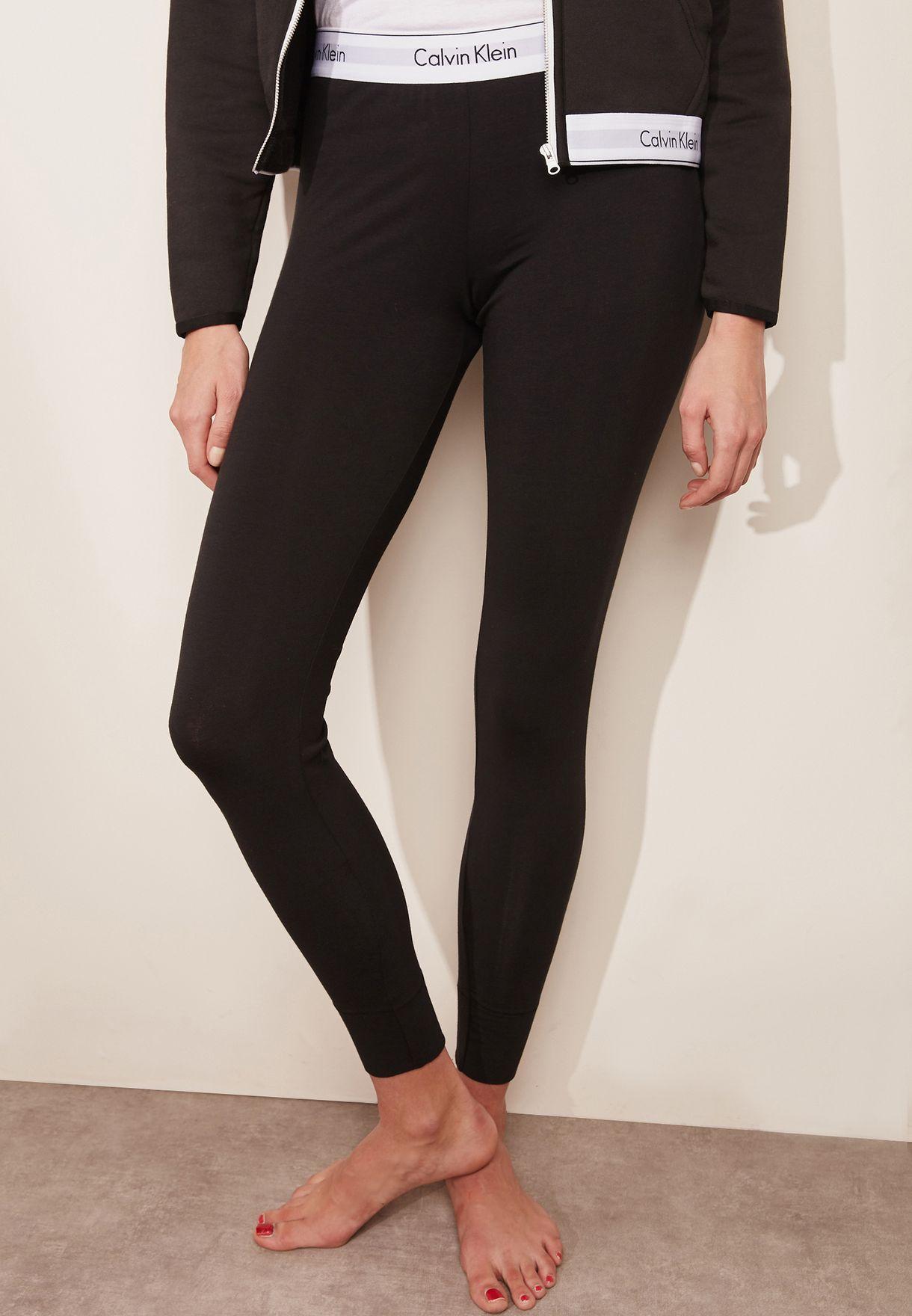 bf29686baaf28 Shop Calvin Klein black Logo Band Leggings 0000D1632E for Women in ...