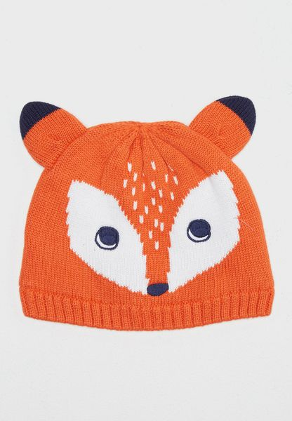 Infant Fox Knitted Beanie