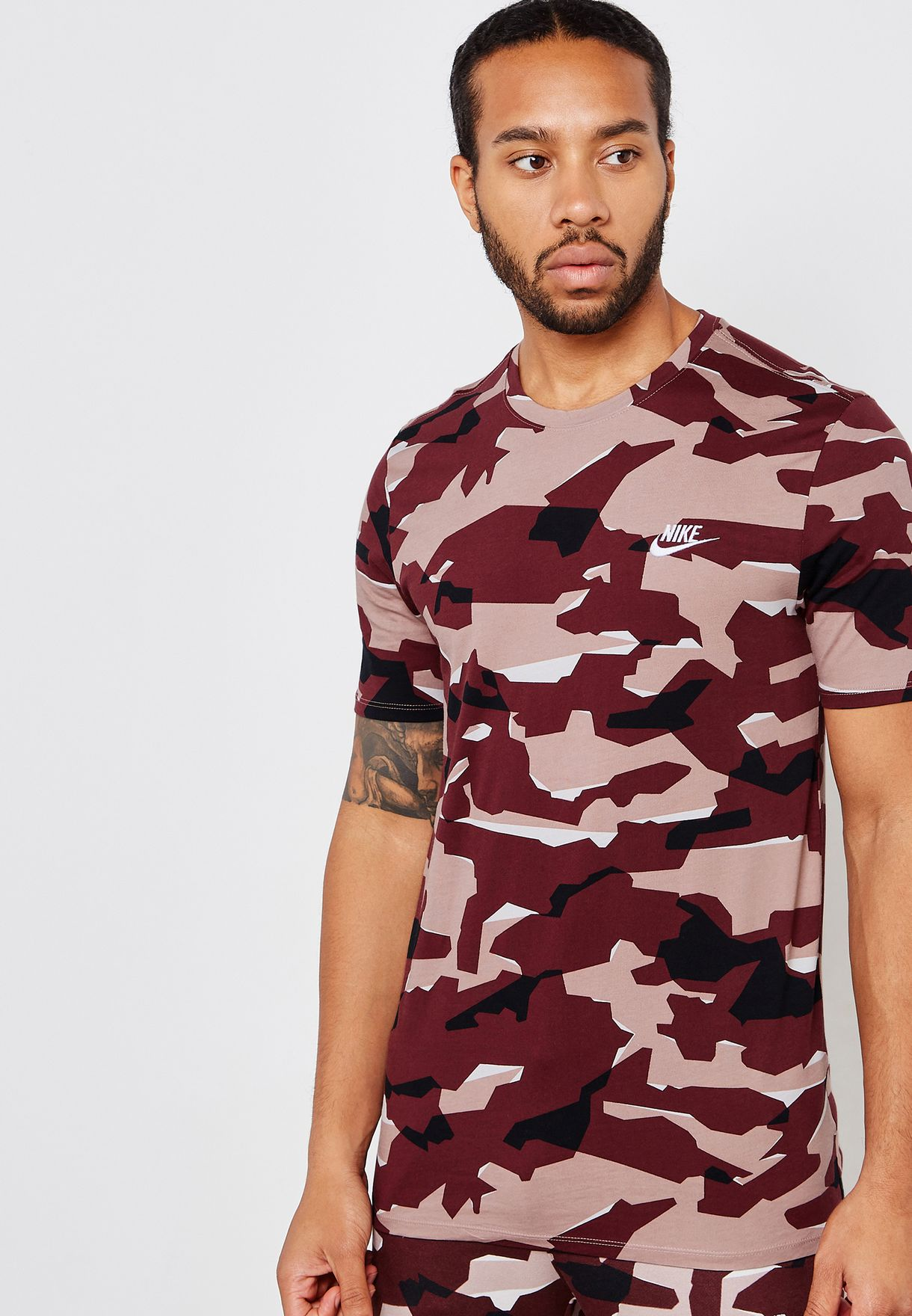25fbd4faa0b3 Shop Nike prints NSW Camo T-Shirt AJ6631-092 for Men in UAE - NI727AT95STS