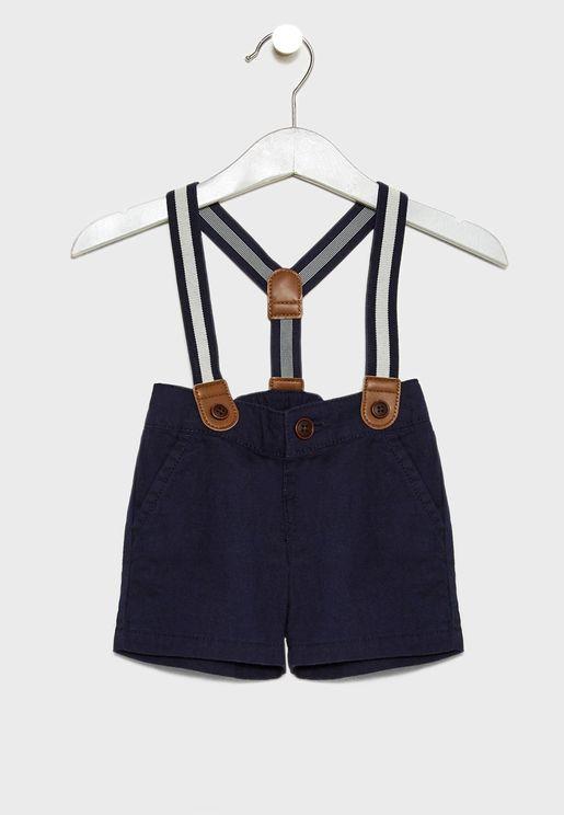 Infant Suspender Shorts