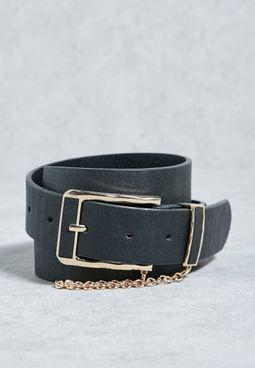 Chain Keeper Jeans Belt