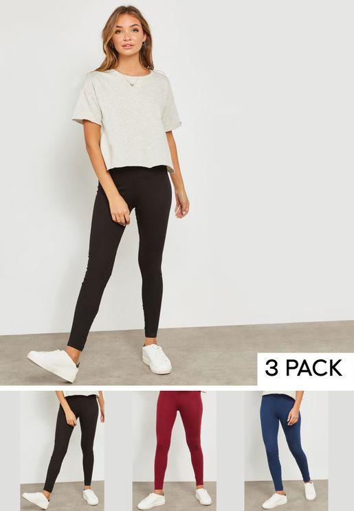 3 Pack Essential Leggings
