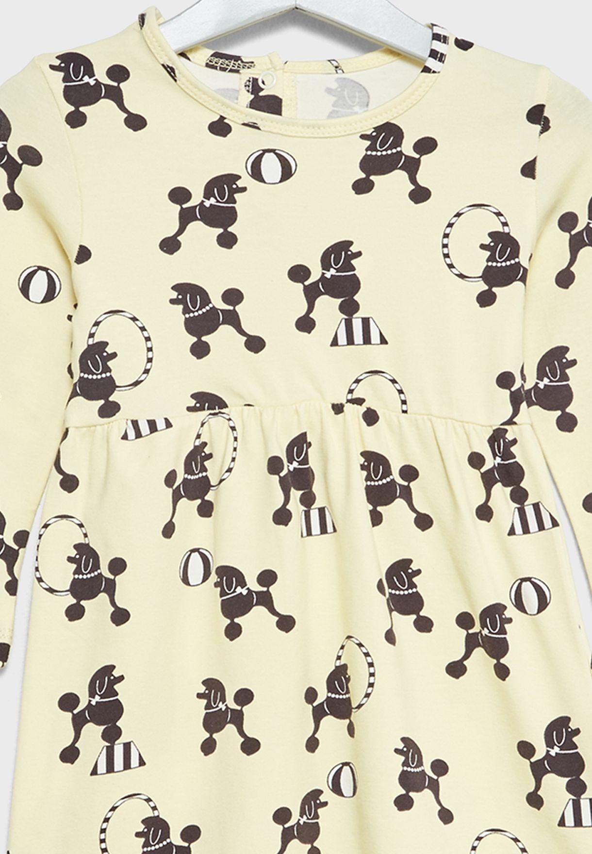 Little Poodle Print Dress