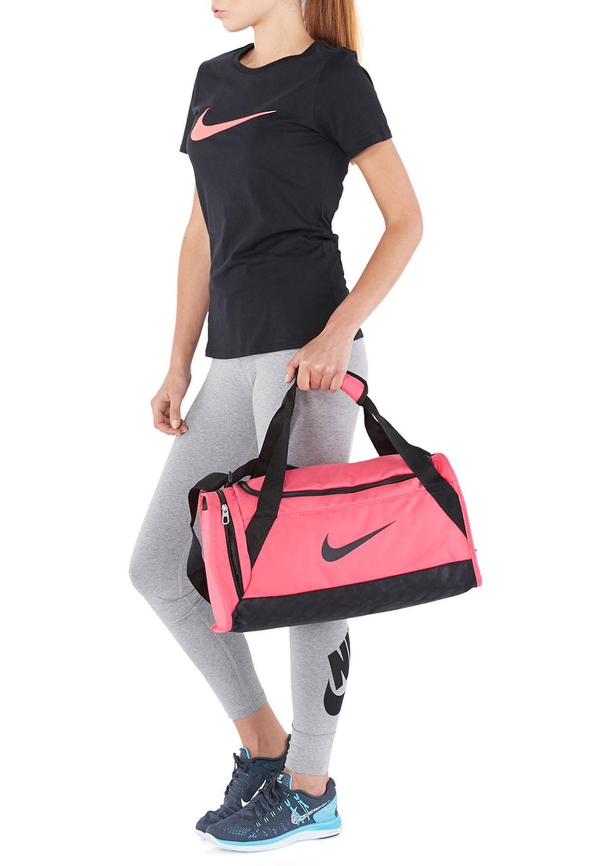 debdc4418a7c Shop Nike pink Extra Small Brasilia 6 Duffel Bag BA4911-606 for ...