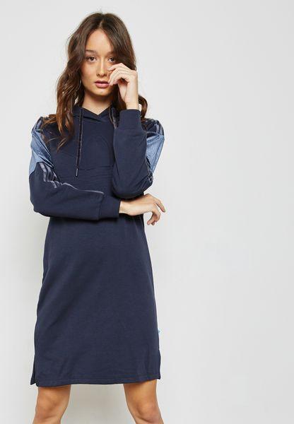Trefoil Hooded Dress