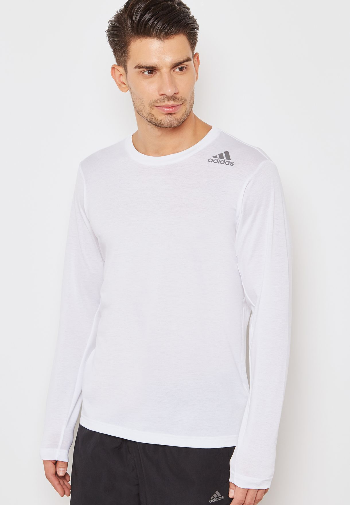 Shop adidas white FreeLift Prime T-Shirt CX0203 for Men in UAE ... 3377225bf