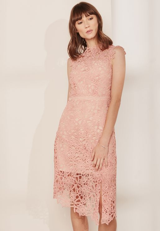 Asymmetric Lace Ivana Dress