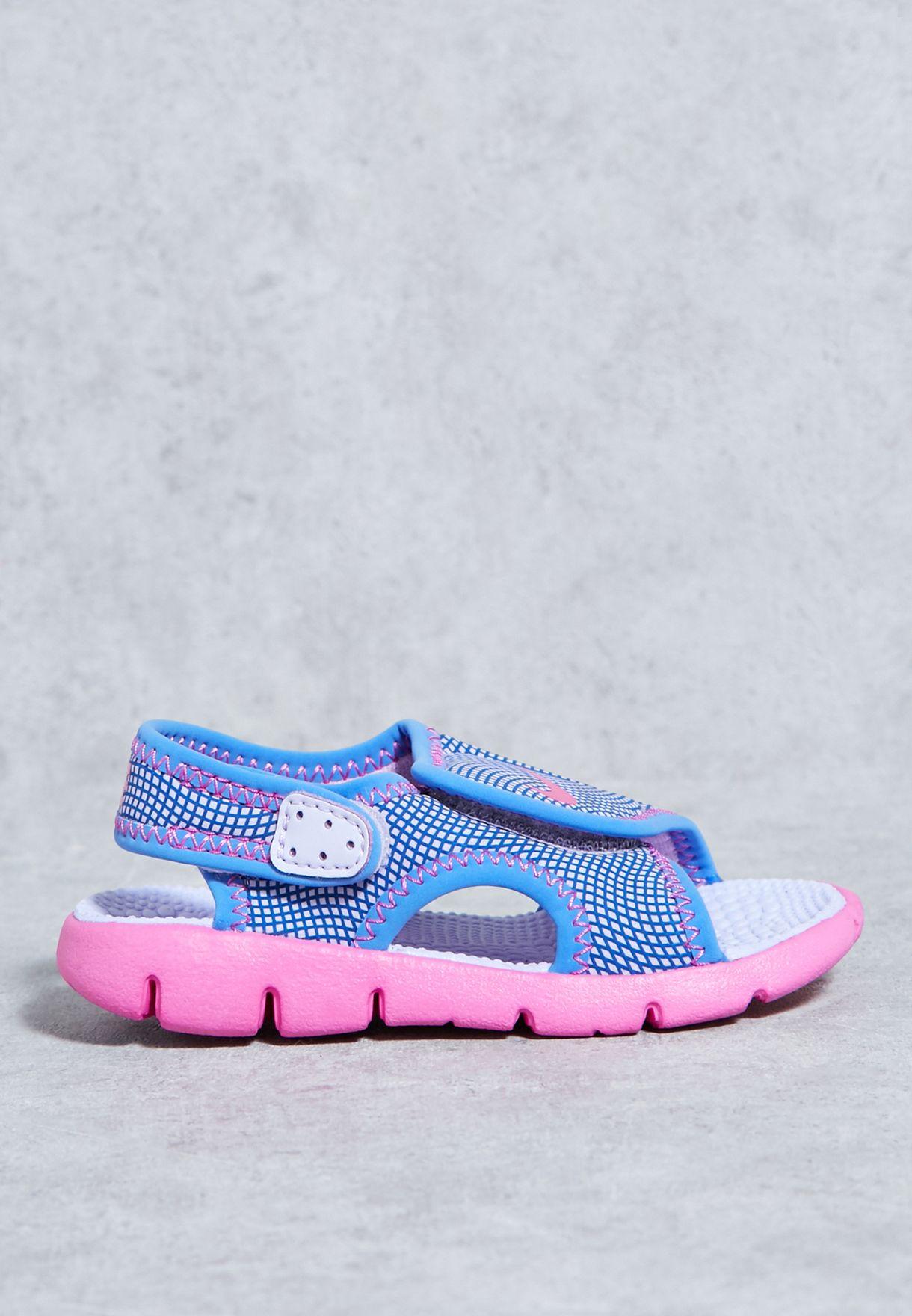 002b3721ddc2 Shop Nike blue Sunray Adjust 4 Infant 386521-504 for Kids in Saudi ...