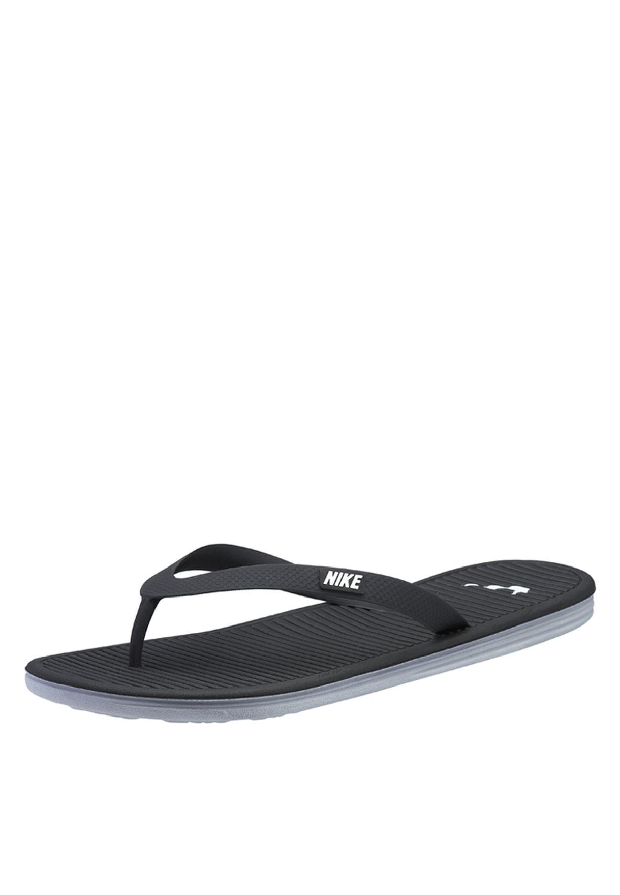e9f922489c494 Shop Nike black Solarsoft Thong II 488160-018 for Men in UAE ...