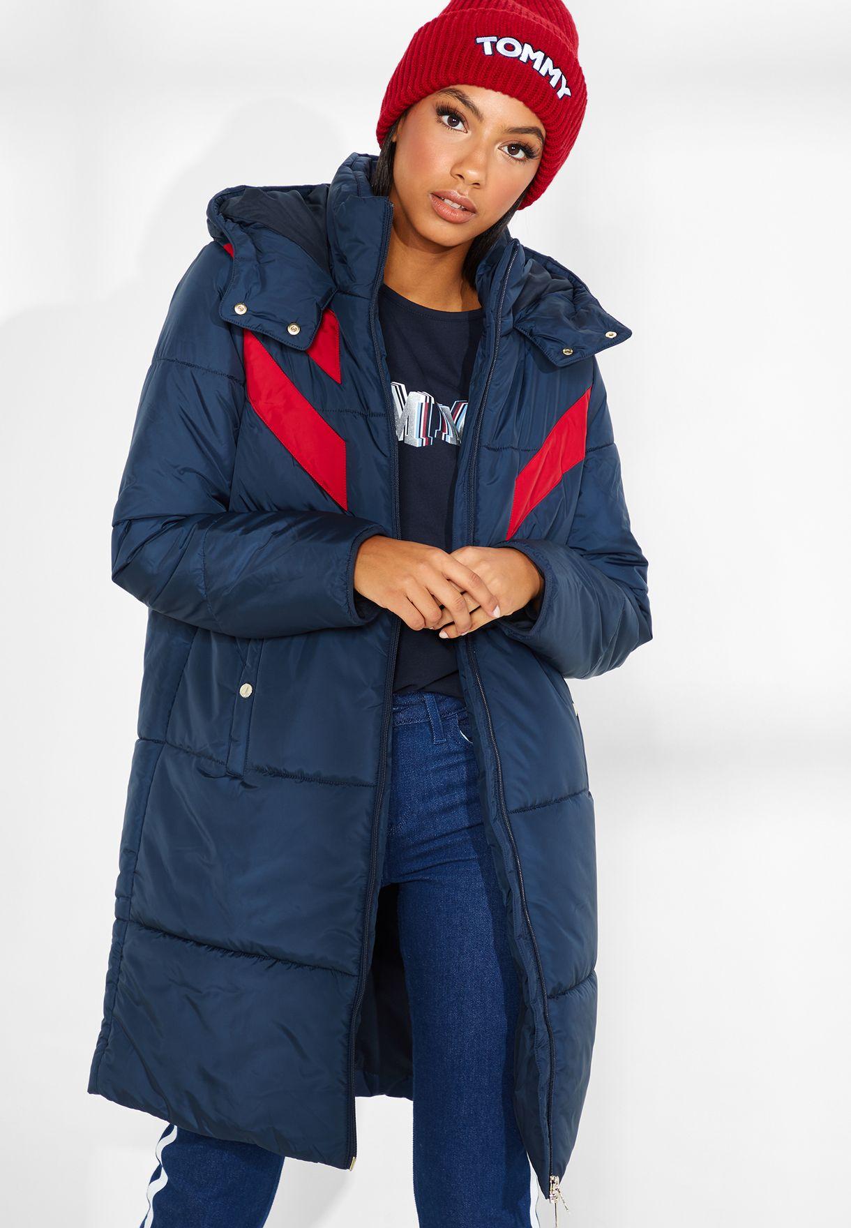 e42a10253f58 Shop Tommy Hilfiger navy Padded Jacket WW0WW23283 for Women in UAE ...