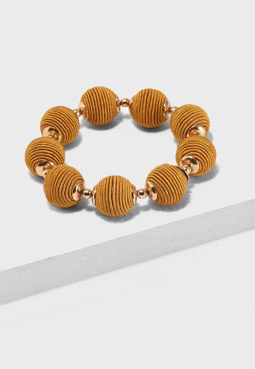 Stretch Thread Wrap Ball Bracelet