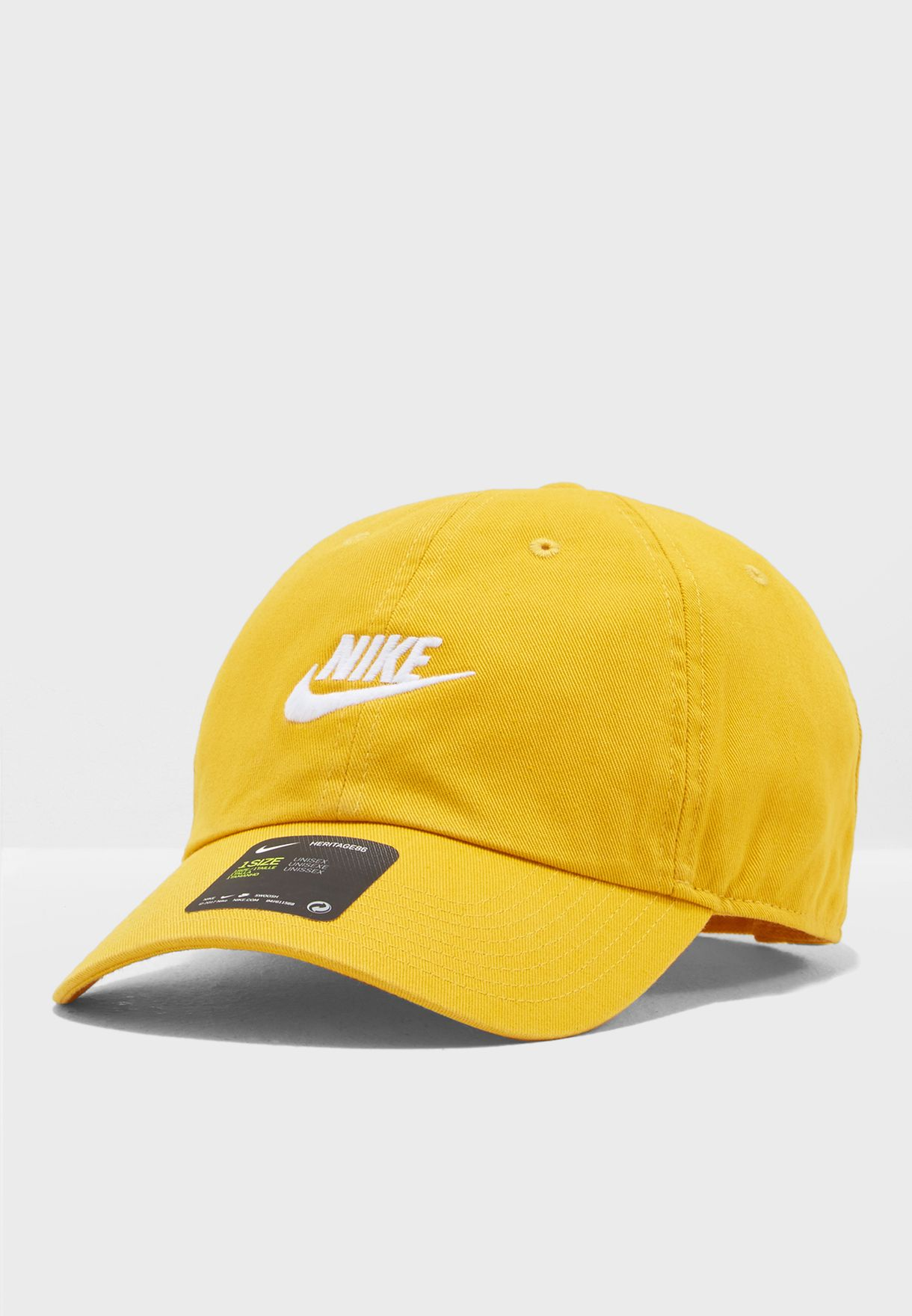 Shop Nike yellow H86 Futura Washed Cap 913011-752 for Men in UAE ... 752f91e67a9