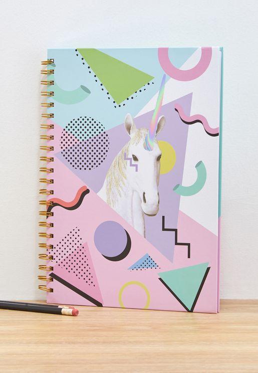 A4 Unicorn Pastels Notebook