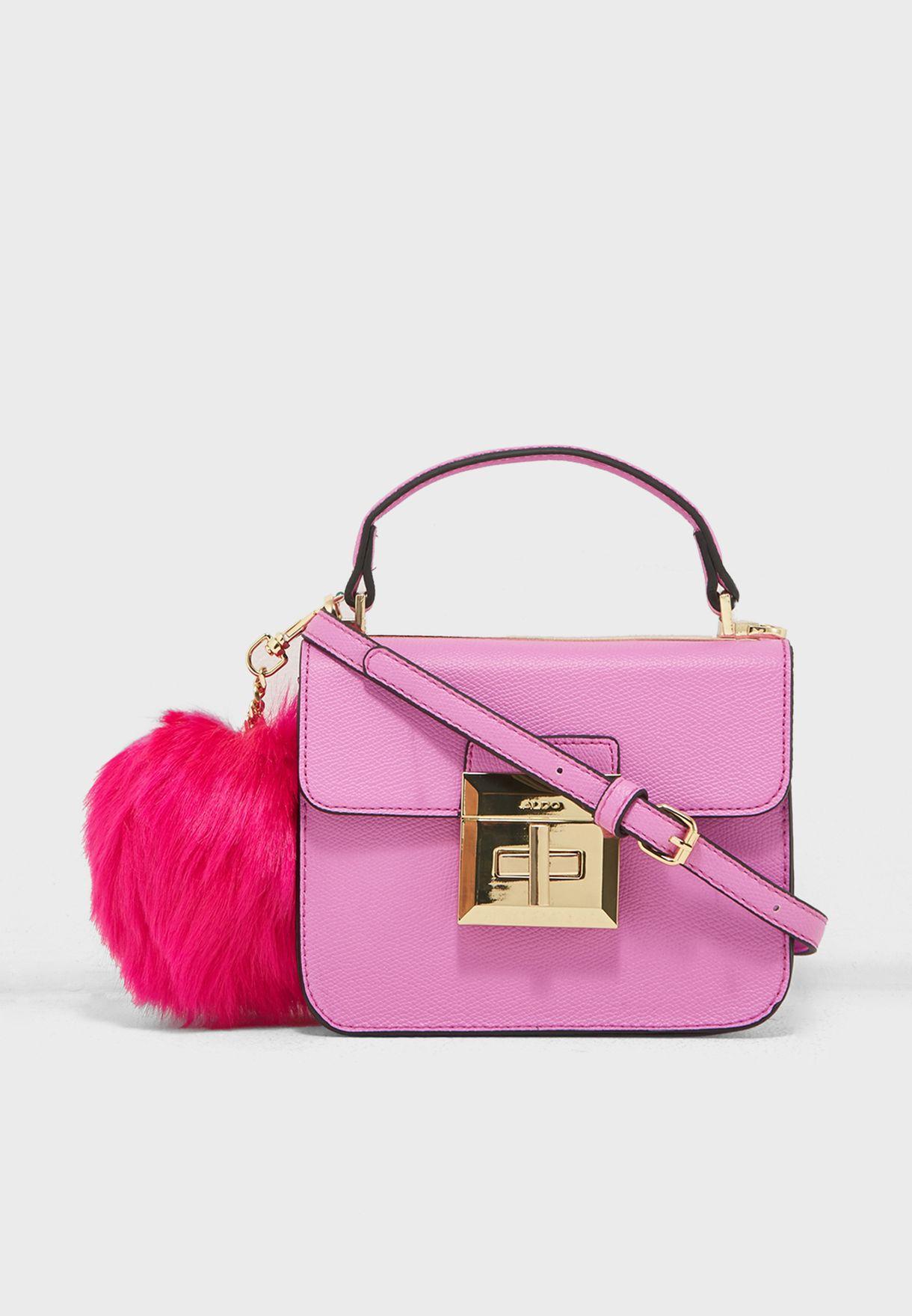 e43721edcc7 Shop Aldo pink Chiadda Mini Pom Pom Satchel CHIADDA53 for Women in ...