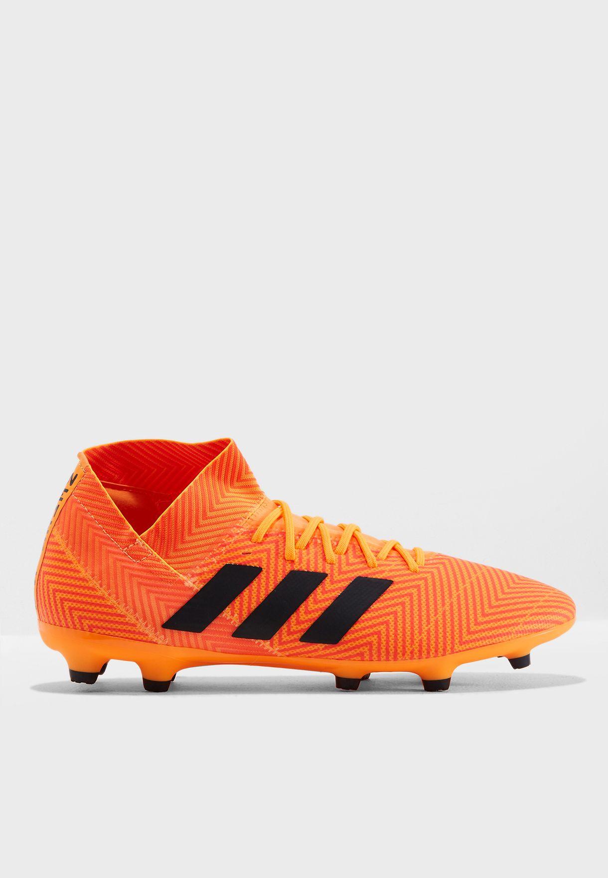 02003d20a003c تسوق حذاء نيميزيز 18.3 اف جي ماركة اديداس لون برتقالي DA9590 في ...