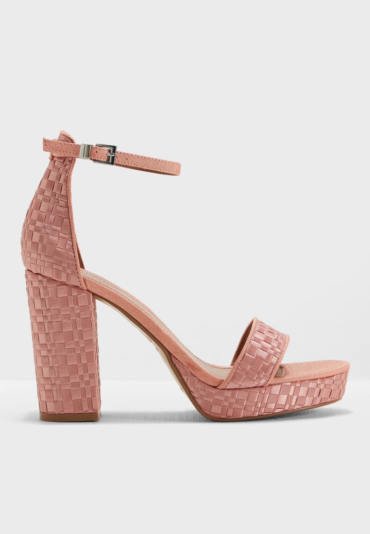 6bee439c1b92 Shop Topshop pink Sloane Woven Platform Sandal 32S09NPNK for Women in Saudi  - TO856SH85BJI
