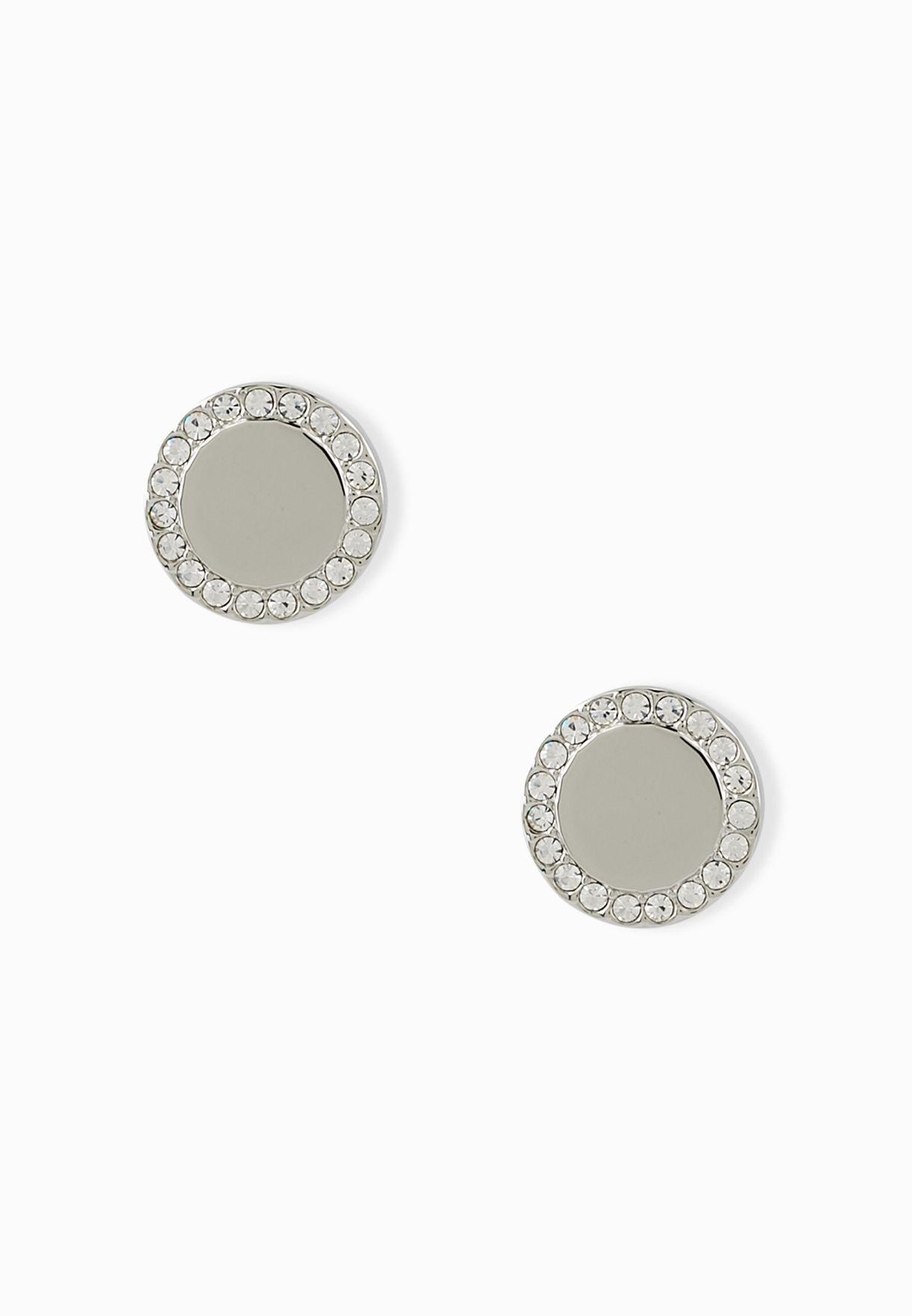 Disc Stone Earrings