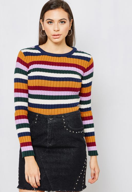 Ribbed Multicolor Sweater