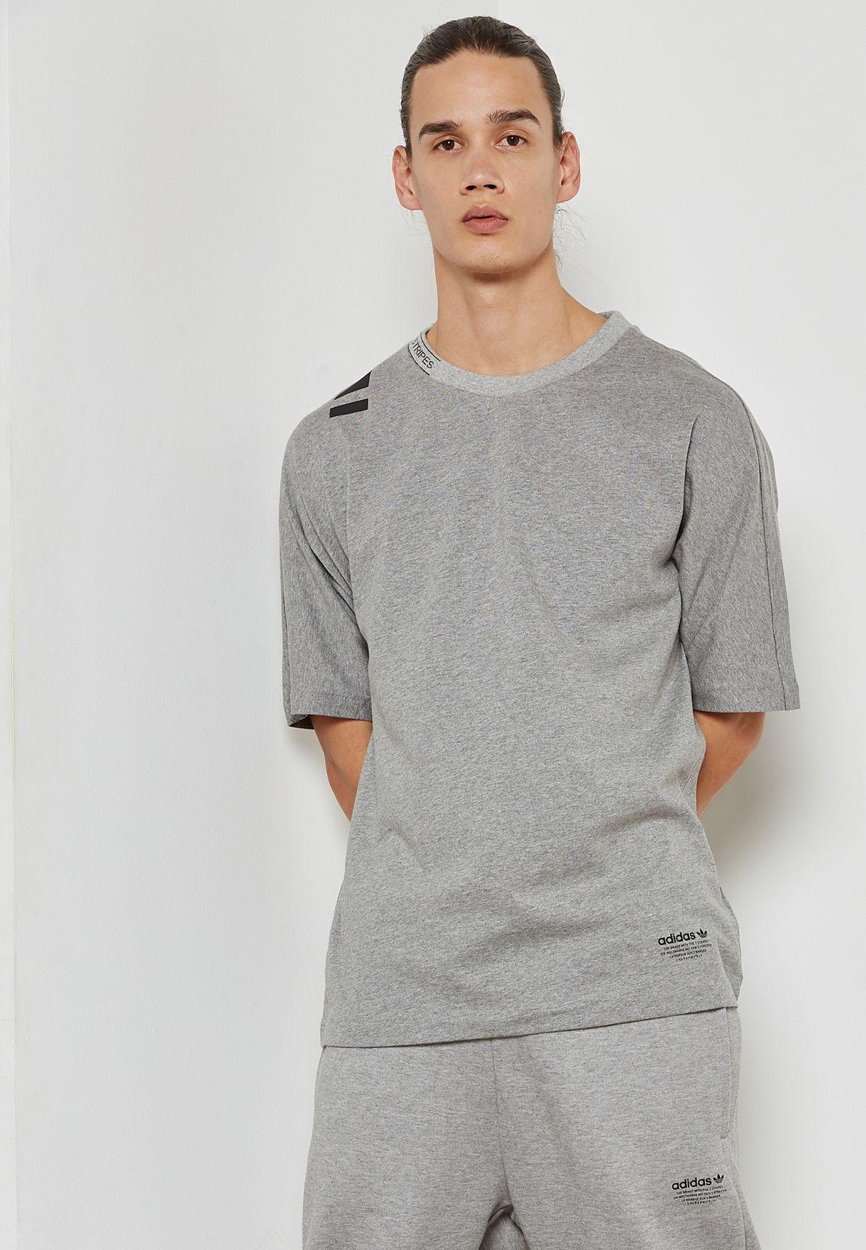 20c982a3efb1c Shop adidas Originals grey NMD T-Shirt CE1588 for Men in Kuwait ...