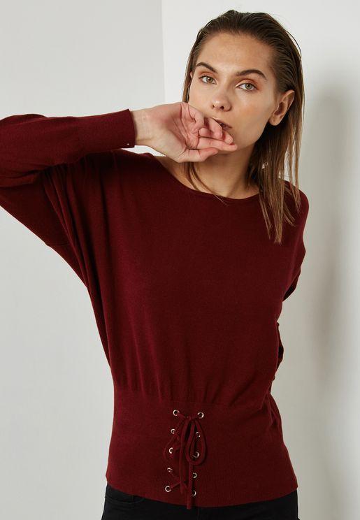 Corset Hem Sweater