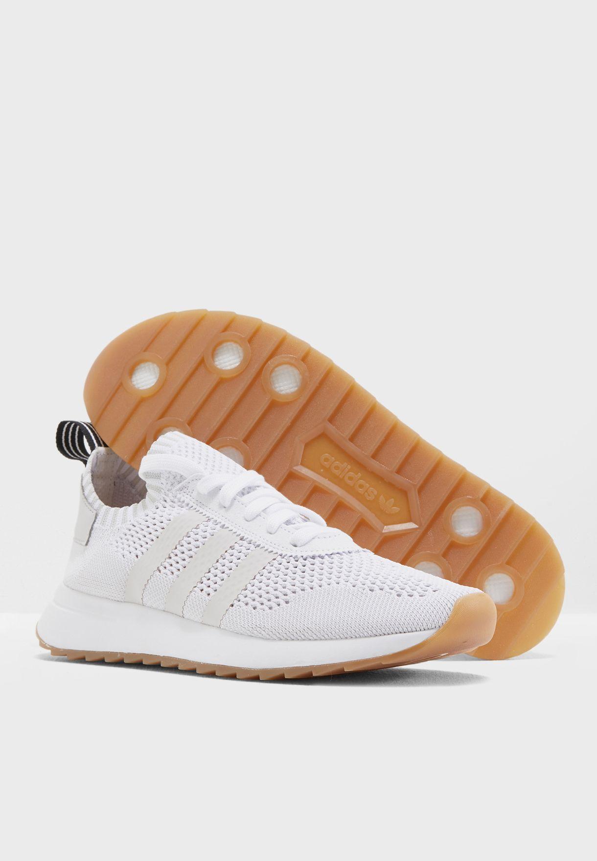 aceb88bc0e9644 Shop adidas Originals white FLB Runner PK CQ1986 for Women in ...
