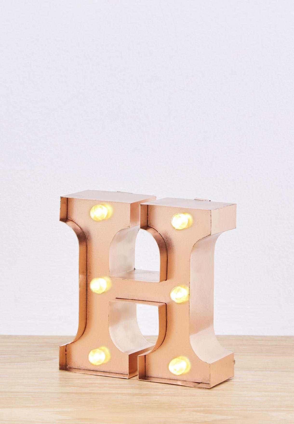 """وحدة اضاءة صغيرة بشكل حرف """"H"""""""