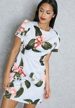 Floral Printed Mini Dress
