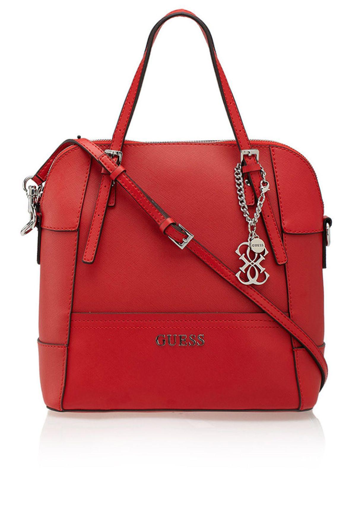 b3f76ccffb7b Shop Guess red Delaney Tote for Women in Saudi - GU094AC85SMG