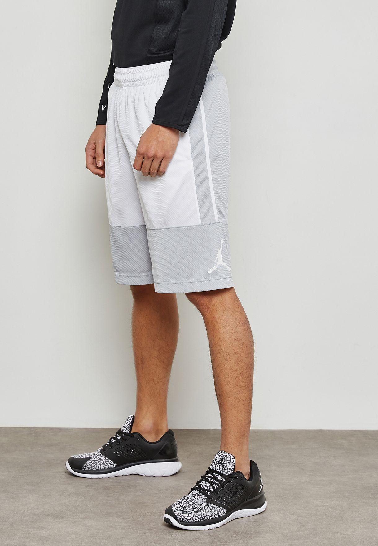 0243e686321 Shop Nike grey Jordan Rise Solid Shorts 889606-012 for Men in Qatar ...