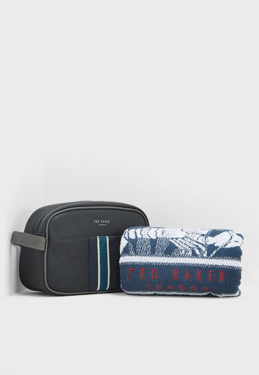 Webbing Washbag With Towel