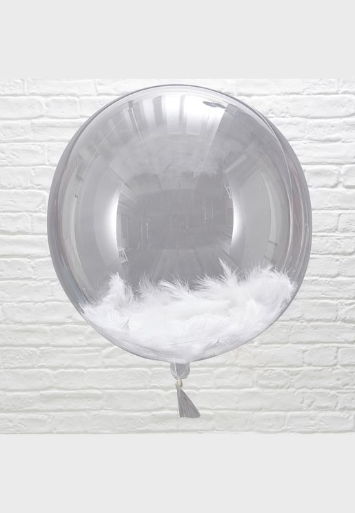 3 x Feather Orb Balloons 18""