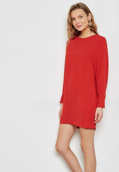 Buttoned Sleeve Detail Dress
