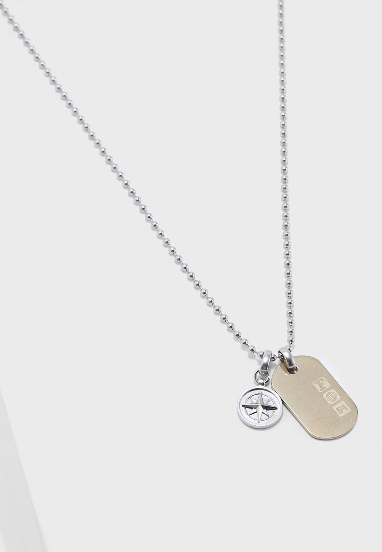 54a72fca159 Shop Fossil silver Dog Tag Necklace JF02762998 for Men in Kuwait -  FO413AC85GPY