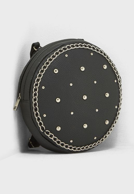 Diamante Circular Quilted Backpack