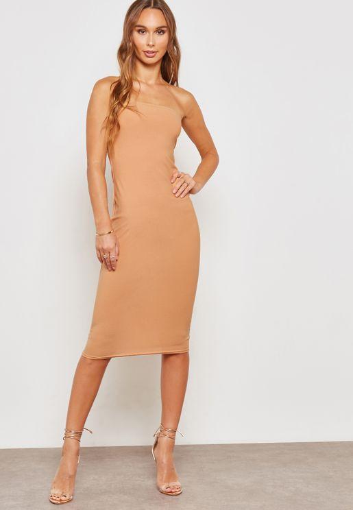 Bandeau Midi Dress