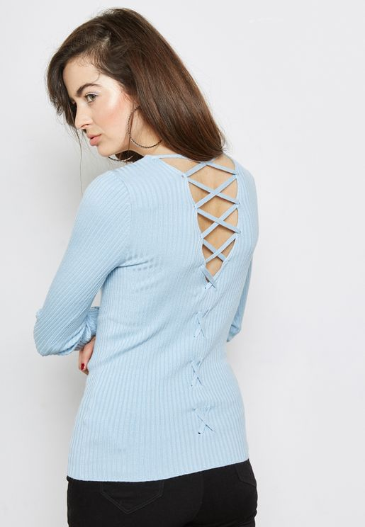 Lattice Back Sweater