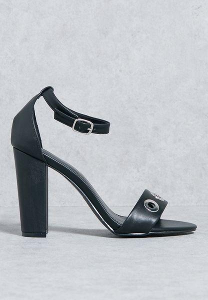 Eyelet High Heel Sandal
