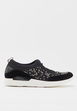 Embellished Neoprene Sneaker