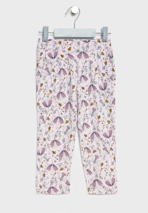 Infant Floral Print Pants