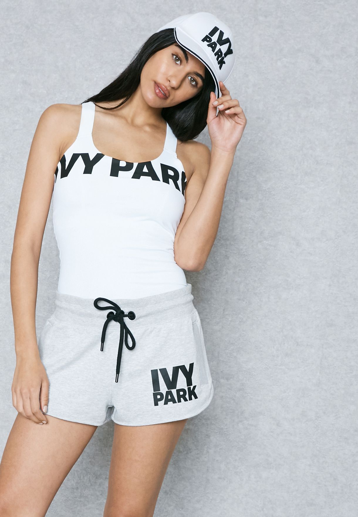12a71dc4d61667 Shop Ivy Park white Logo Tank Top 29V50LWHT for Women in Qatar -  IV938AT85INE