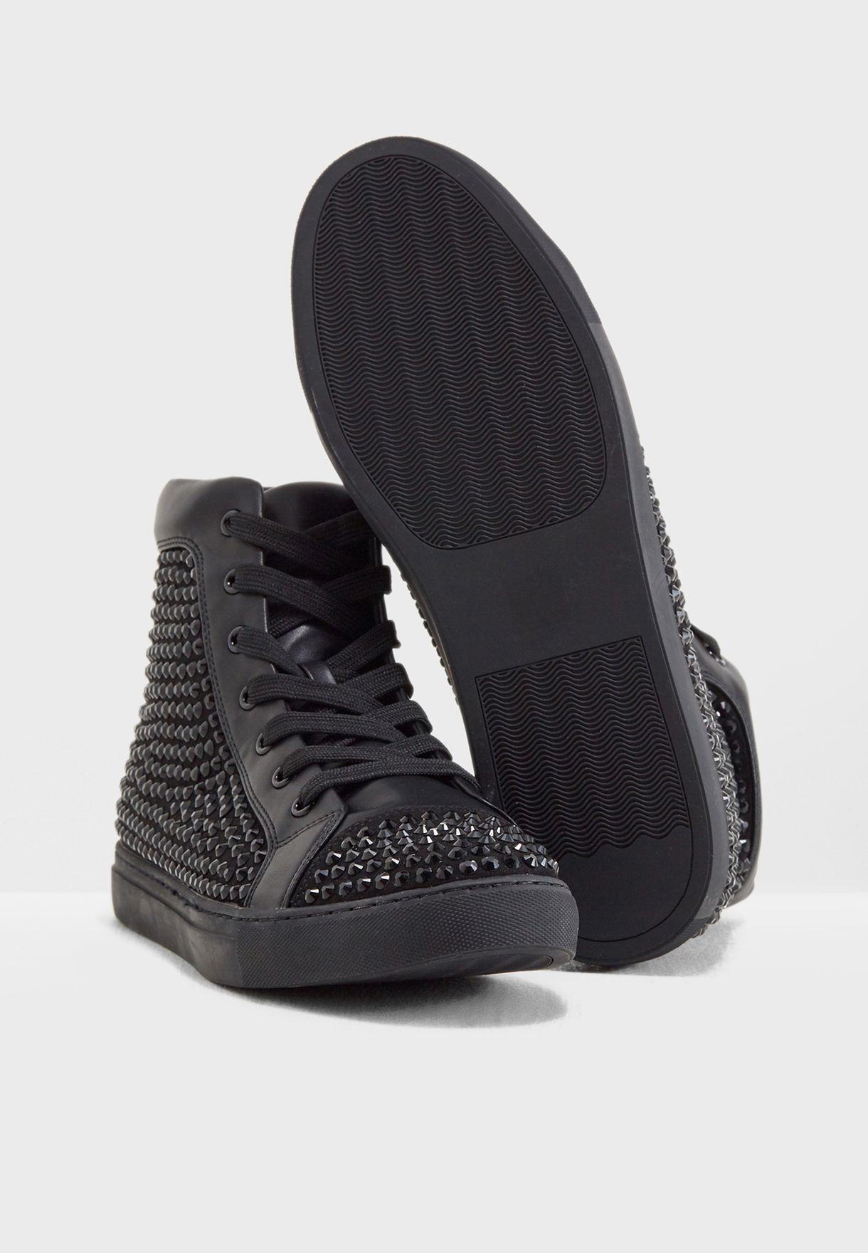 d107c2a27df Shop Steve Madden black Crescent Sneakers CRESCENT for Men in ...