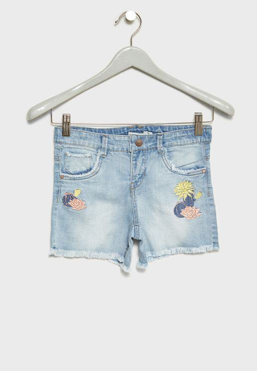 Teen Embroidered Shorts