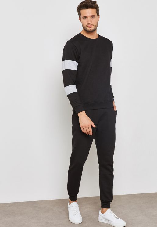 Colour Block Crew Neck Tracksuit