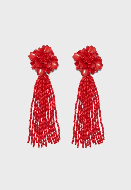 Jacinta Glass Bead Earrings