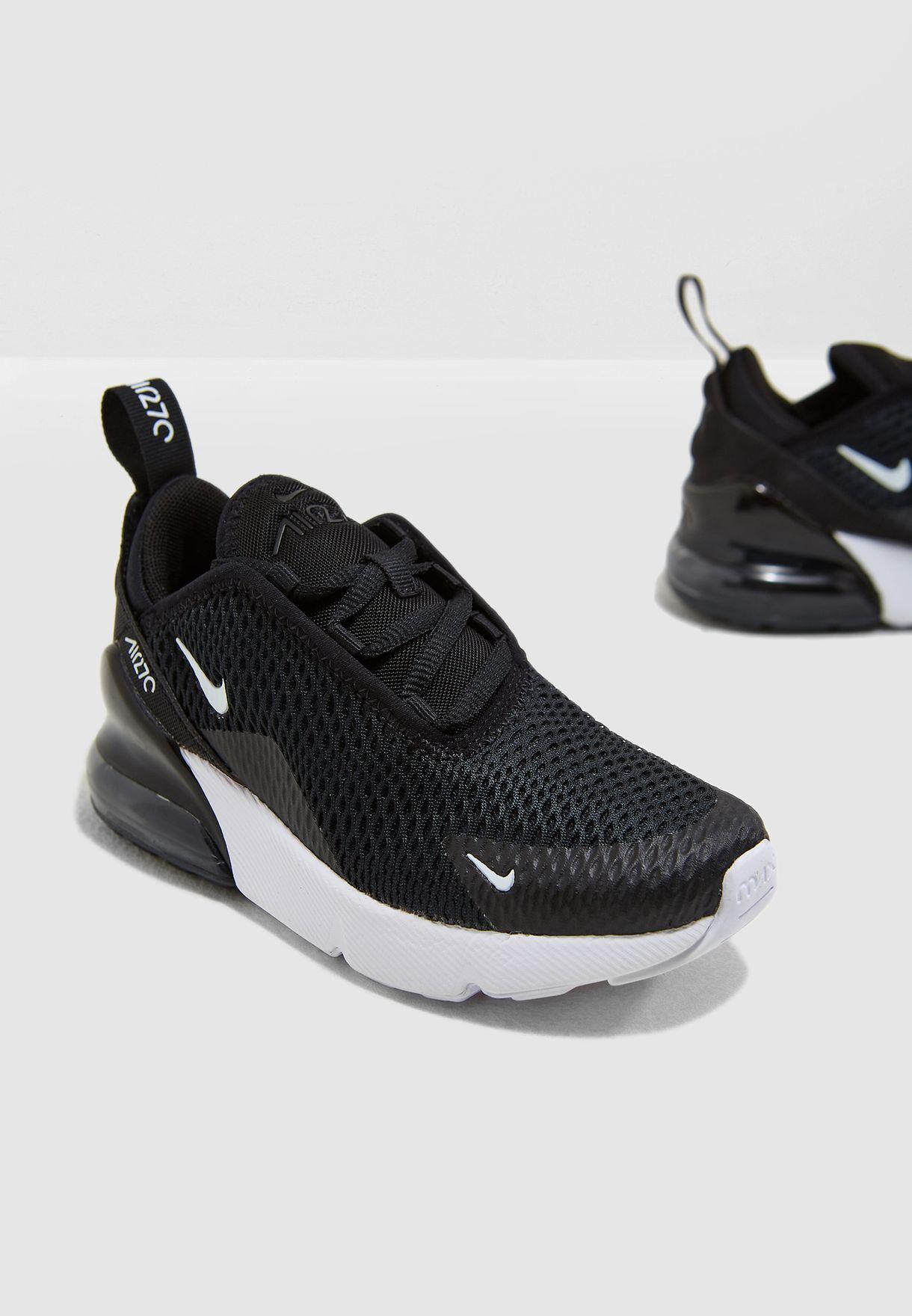 3e341ec469e45 Shop Nike black Kids Air Max 270 AO2372-001 for Kids in UAE ...