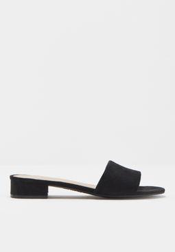 Ladies Low Block Heel Slide Mule